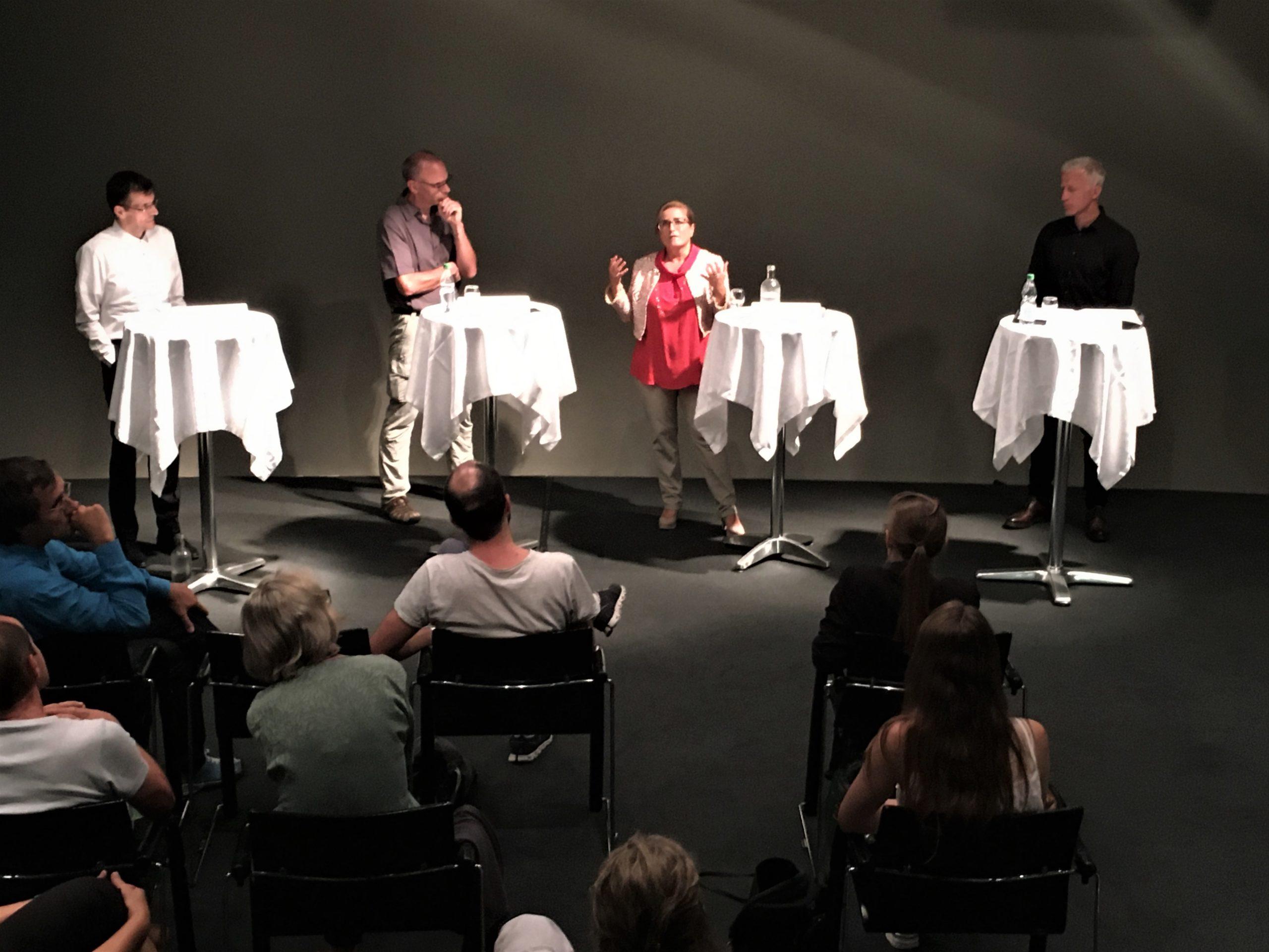 von links nach rechts: Markus Buschor, Robert Furrer (Moderator), Maria Pappa, Mathias Gabathuler